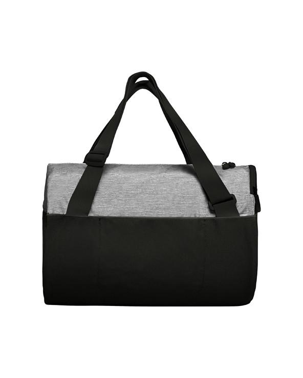 Bolsa combinada con doble asa ajustable. Cierre principal y bolsillo lateral con cremallera invertida. Bolsillo frontal con vel