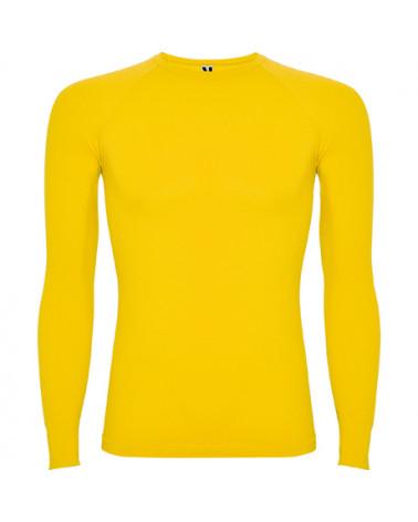 Camiseta térmica profesional con tejido reforzado. Cuello redondo a la caja. Diseño anatómico extraconfortable. Ligera y transp