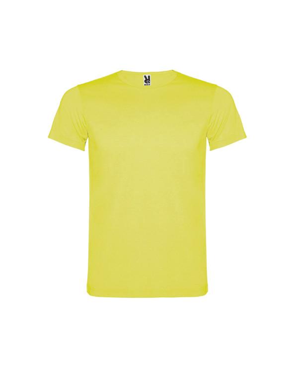 Camiseta de manga corta en colores flúor. Cuello redondo y cubrecosturas de refuerzo en el interior. Fabricado en tejido poliés