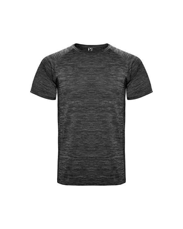 Camiseta técnica de tejido poliester, manga corta estilo ranglan. Cuello redondo. Camiseta de tejido con caída, confortable y f
