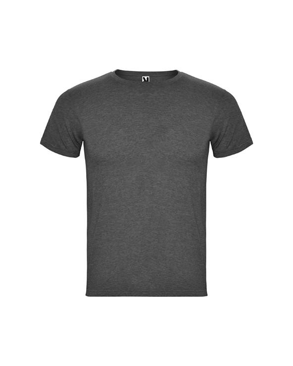 Camiseta de manga corta, en tejido vigoré. Cuello redondo en punto canalé 1x1 con cubrecosturas de refuerzo en su interior. Con