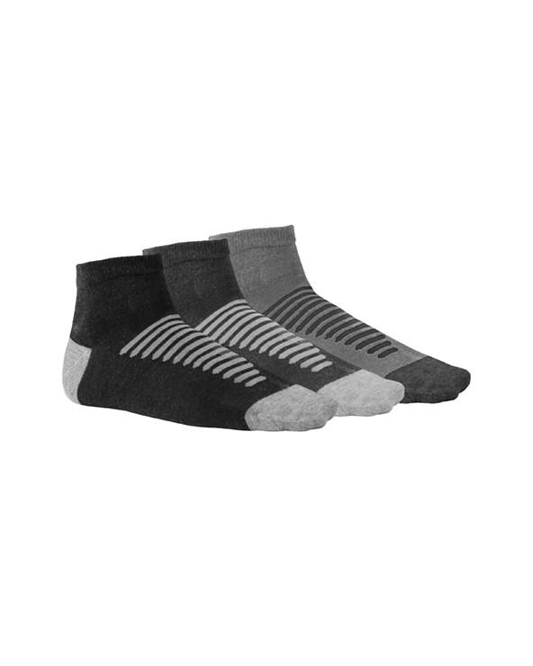 Calcetín combinado, transpirable y cómodo. Color combinado en puntera, talón y dibujo de rayas sobre el empeine. Altura de tobi