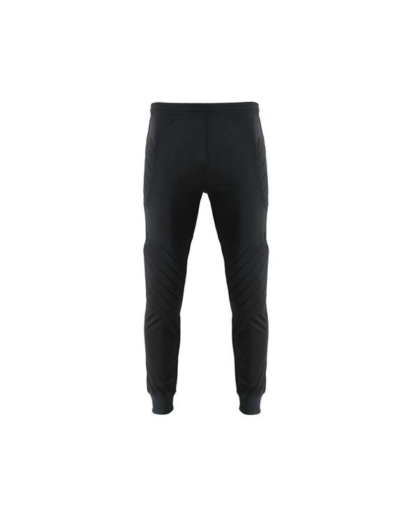 Pantalón largo de portero unisex. 1. Con inserciones laterales y rodilleras acolchadas.  2. Cinturilla elástica con cordón in