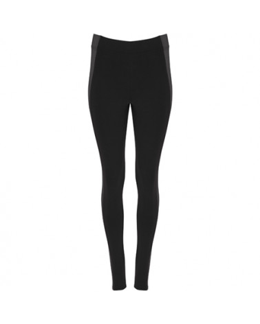 Malla larga deportiva de mujer. Con cinturilla elástica y paneles laterales a contraste.
