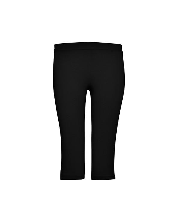 Malla deportiva mujer, media pierna con apertura lateral y cintura elástica.