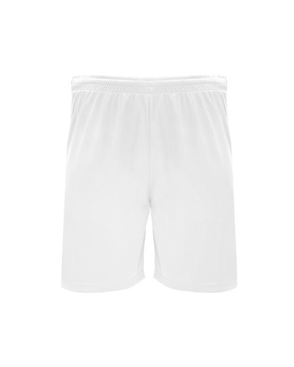 Pantalón corto deportivo con cinturilla elástica ajustable con cordón interior y pespunte de seguridad. Aperturas laterales.