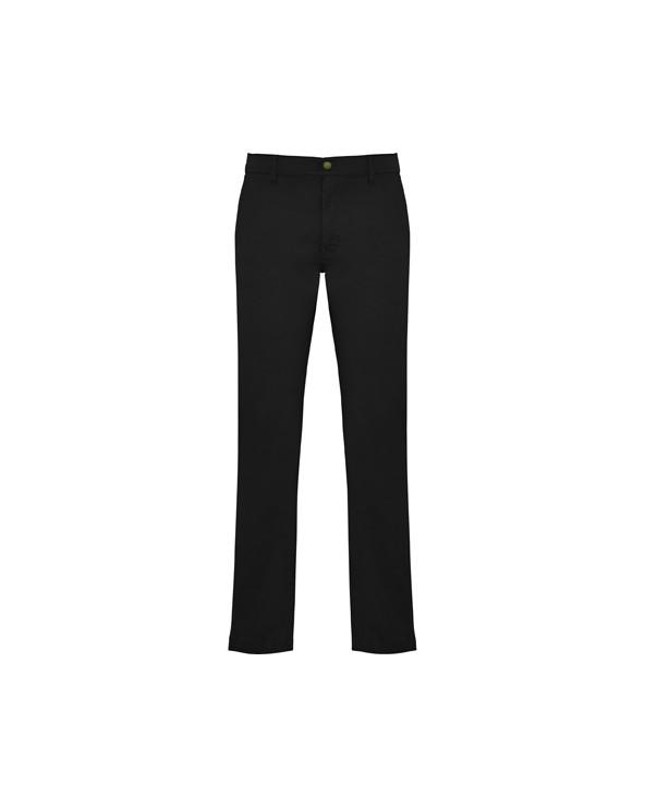 Pantalón largo de hombre, de tejido resistente y corte confortable, especial para hostelería y ámbito laboral.  1.- Dos bolsil