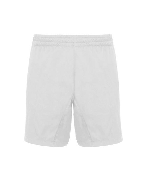 Pantalón deportivo corto con bolsillos laterales. Cinturilla elástica con cordón ajustable. Tejido ligero y transpirable con in