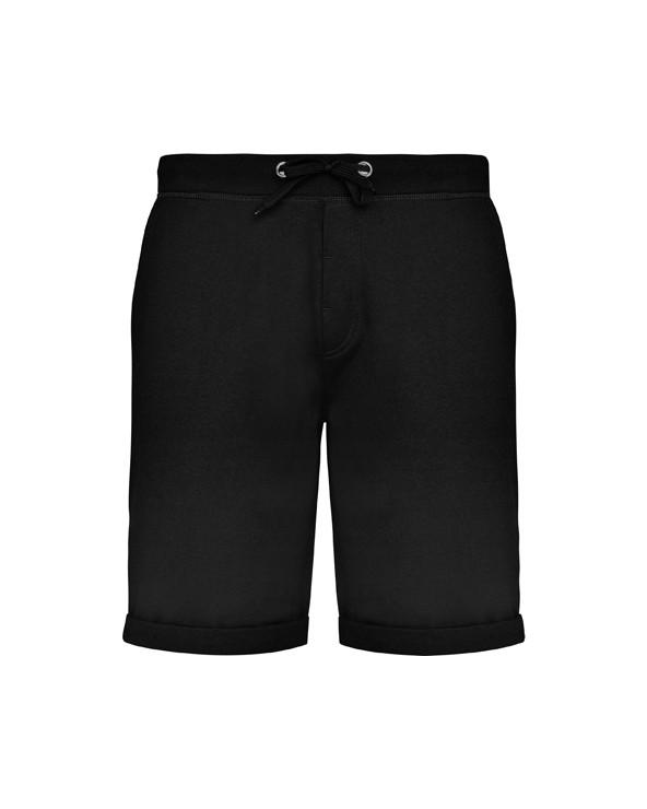 Pantalón corto deportivo con cinturilla elástica ancha con cordón ajustable. Adorno de falsa cremallera. Bolsillos laterales, b