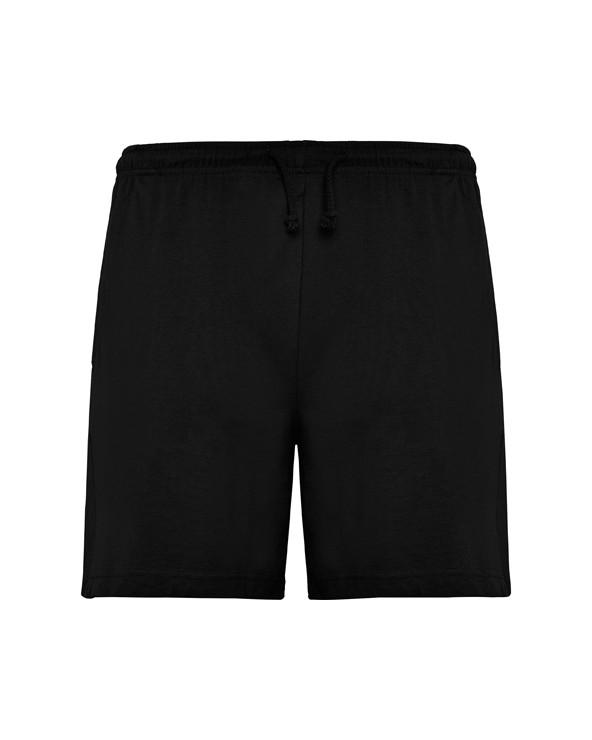 Bermuda unisex con bolsillos laterales y cinturilla elástica con cordón ajustable.