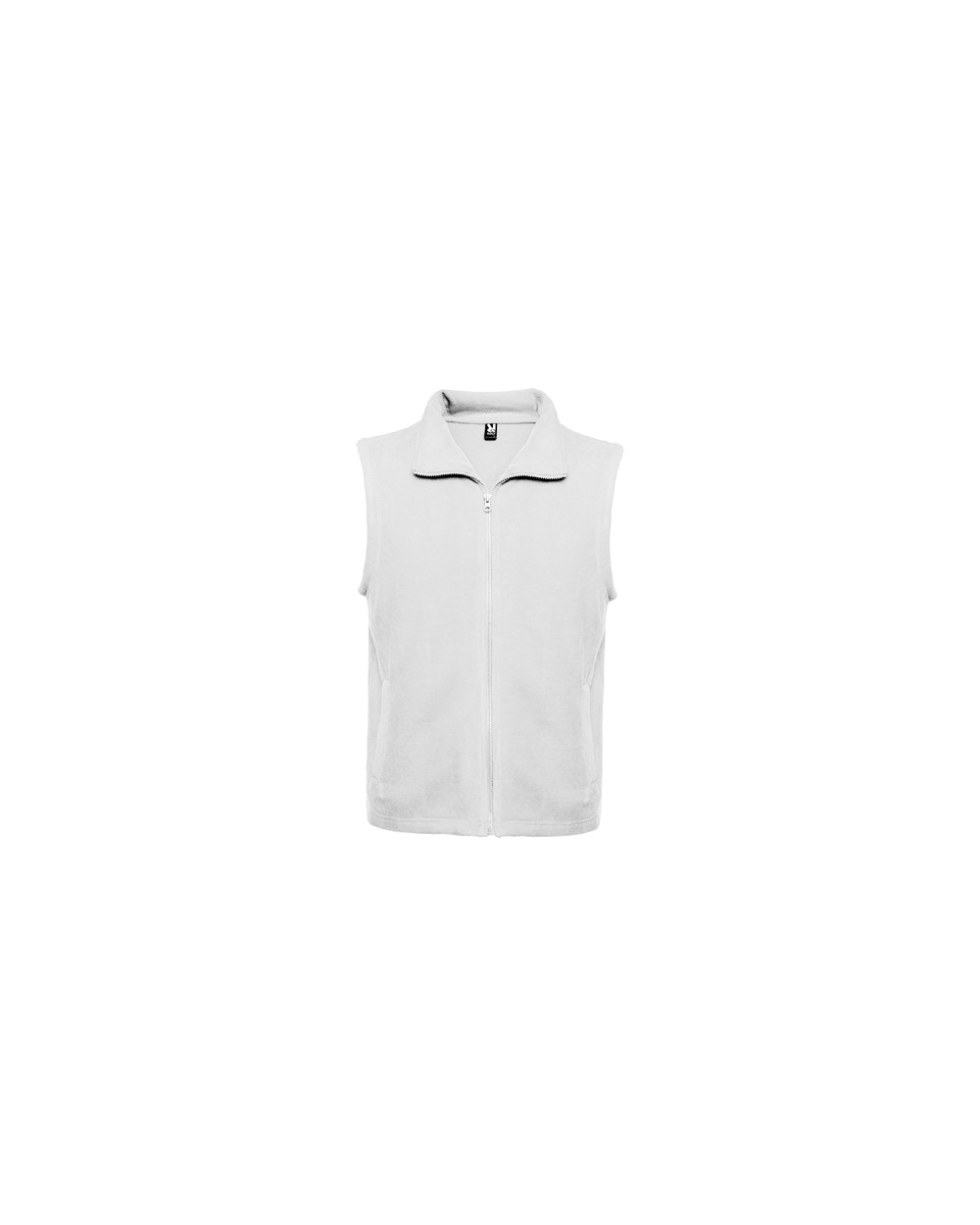 Chaleco polar con cuello alto y cremallera al tono. Detalle bolsillos laterales con cremallera al tono.
